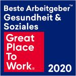 """Bild zeigt Auszeichnung """"Bester Arbeitgeber Gesundheit und Soziales 2020"""""""