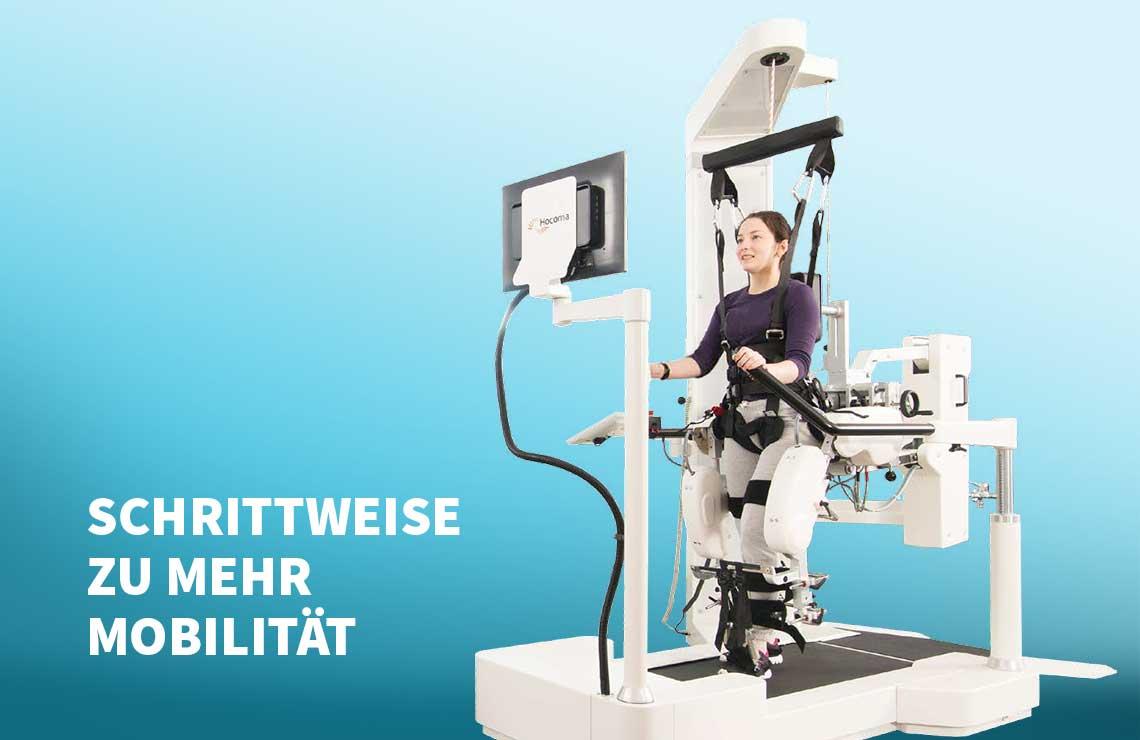 Innovative Therapie-Robotik: der Lokomat®Nanos bei Frehe + Watzl